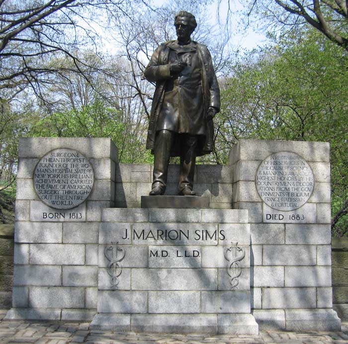 Image result for statue of j marion sims in alabama